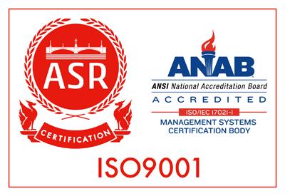 ISO9001:2008認証ラベル